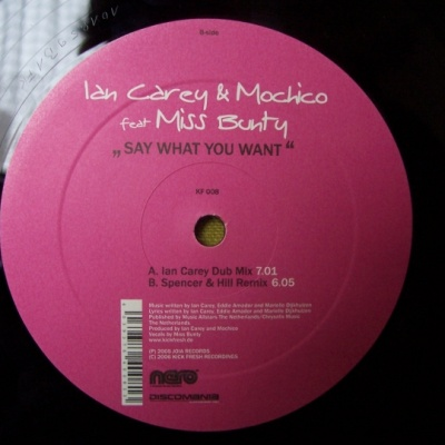 Ian Carey - Say What You Want (Album)