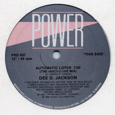 Dee D. Jackson - Automatic Lover (The Innovative Mix)